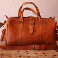 Leather Duffle Bag / Purse by Leatherfinerwork on Etsy