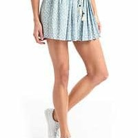 Tencel® high rise pleat shorts | Gap