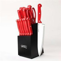 Ginsu Dws Cutlery 14pc Set Red