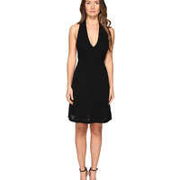 M Missoni Solid Rib Stitch V Dress