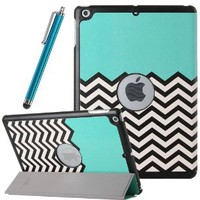 iPad Air Case, ULAK Slim Fit Synthetic Leather Case With Auto Sleep/Wake Feature for iPad Air 5 5th Generation (2013 Release) (FOLLOW THE SKY)