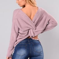 Falls Favorite Girl Sweater - Lavender
