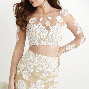Short Two Piece Dress with Long Sleeves by Hannah S
