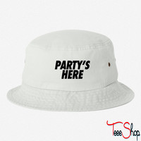 Party's Here bucket hat