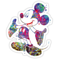 Mickey Mouse Disney Watercolor