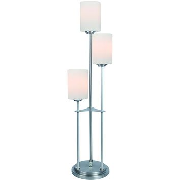 """34""""H Bess 3-Light Table Lamp Brushed Nickel"""