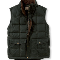 Waxed Cotton Down Vest: Outerwear | Free Shipping at L.L.Bean