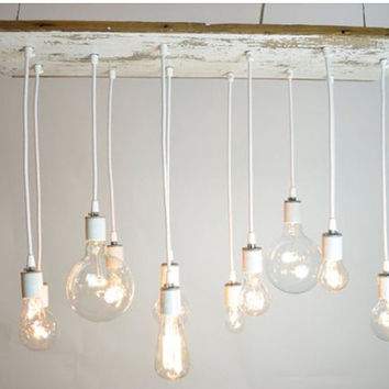 Rustic Edison chandelier 11 lights
