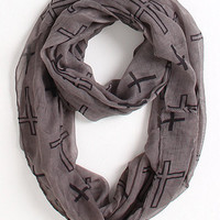 Kirra Cross Outline Infinity Scarf at PacSun.com