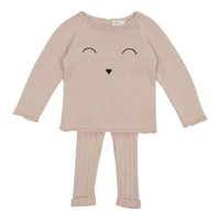 Tun Tun Baby Girl's Face Knit Set