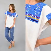Embroidered White MEXICAN Top