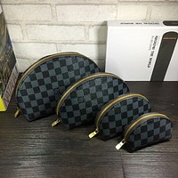 Louis Vuitton LV new style fashion cosmetic bag 4-piece set for men and women clutch