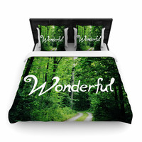 """Chlesea Victoria """"Wonderful"""" Green Nature Woven Duvet Cover"""