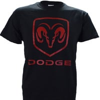 Dodge Ram Logo on a Black T Shirt