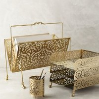 Casimira Desk Accessories by Anthropologie in Gold Size: