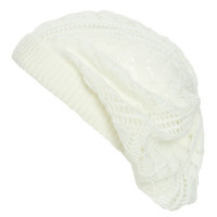 Pointelle Beret   Shop Accessories at Wet Seal