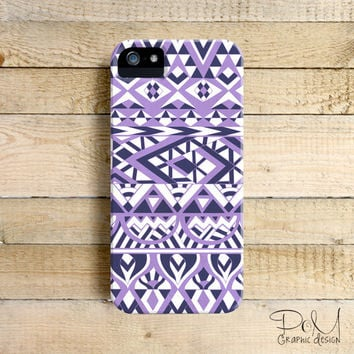 Tribal Simplicity Lilac - iPhone 5/5c case, iPhone 4/4s case, Samsung Galaxy S3/S4
