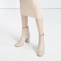 HIGH HEEL LEATHER ANKLE BOOTS WITH ZIP - Ankle boots-SHOES-WOMAN | ZARA United States