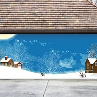 Christmas Garage Door Cover Banners 3d Holiday Outside Decorations Outdoor Decor for Garage Door G63