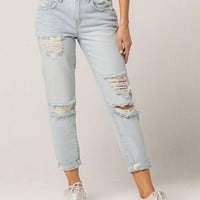 RSQ Soho Ripped Womens Boyfriend Jeans