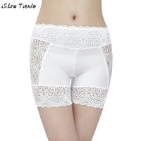 Spandex Women's Safety Short Pants Breathable Women Sides Lace Floral Hollow Out Elastic Safety Underwear #2623