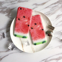 Funny realistic watermelon phone case for iPhone 6 6S 6plus 6Splus 1008J01