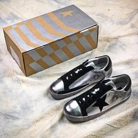 GGDB Golden Goose Uomo Donna G36D121.S3 Silver Black Fashion Shoes - Best Online Sale