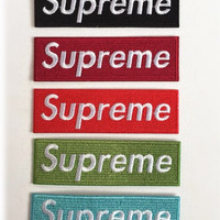 Supreme patch Logo patches badge patch Embroidered patch sew on patch Iron on patch Applique wholesale patch