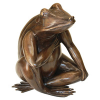 Forever In My Heart Frog Bronze Statue