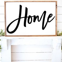 HOME Rustic Farmhouse Style Decorative Vinyl Wall Decal Decor Art