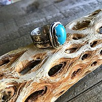 Sleeping Beauty Turquoise Sterling Silver US Size 7 Ring