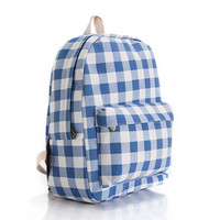 Casual Canvas Plaid Backpack = 4887422148