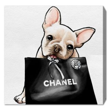 Oliver Gal Frenchie Glam Canvas Wall Art | Nordstrom