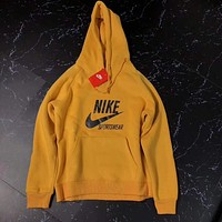 Nike Sportswear Fashion Hooded Top Pullover Sweater Sweatshirt Hoodie Yellow