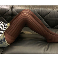 Brown Womens Pantyhose Stocking Jersey Tights  Leggings  Pantyhose Extra Long Plus Size Knee Socks Thigh High Socks Winter Accessories