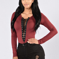 Playhouse Bodysuit - Burgundy