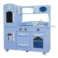 Teamson Kids - Retro Play Kitchen - Serenity Blue (1 Piece)