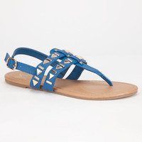 Celebrity Nyc Cleo Womens Sandals Blue  In Sizes