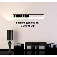 Vinyl Decal Quote Gaming Video Game Playroom Funny Decor Wall Stickers Unique Gift (ig2758)