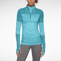 Nike Dri-FIT Knit Long-Sleeve Half-Zip Women's Running Shirt - Gamma Blue