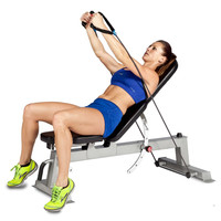 Deluxe Weightlifting Exercise Dumbbell Train Resistance Band Utility Bench