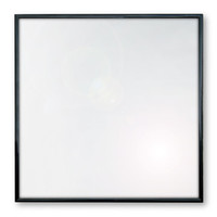"""Record Frame for your 12"""" LPs (Black Aluminum with Glass)."""
