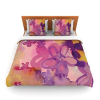 "Louise Machado ""Dissolved Flowers"" Lightweight Duvet Cover"