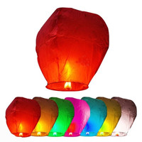 7pcs Chinese Fire Fly Sky Paper Kongming Floating Wishing Lantern Wedding Party = 1945779268