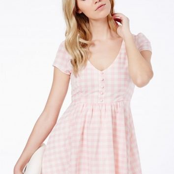 Missguided - Annie Gingham Skater Dress