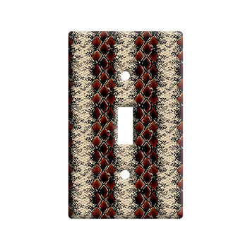 Snake Print Light Switch Plate Cover