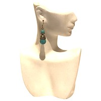 Weighted Turquoise Hook Earrings