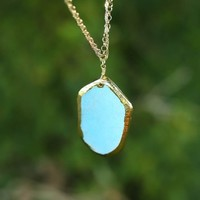 Born To Rock Necklace-Turquoise