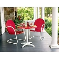 Garden Oasis  Retro Steel Pub Table - Red