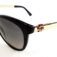 GUCCI Women's Sunglasses GG3784/S Black Gold 56-17-140 MADE IN ITALY - New!